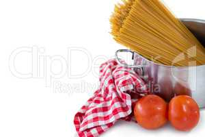 Food in bowl with napkin
