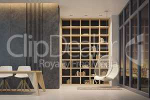 minimalism style interior, 3d rendering