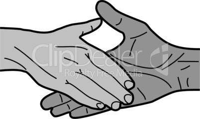 Shakehands Händeschütteln Handschlag handshake