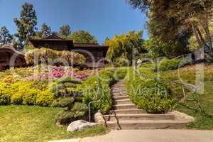 Japanese garden at the Huntington Botanical Gardens