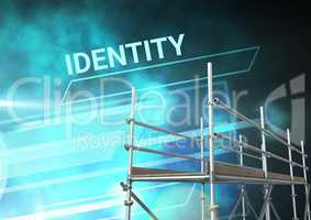 Identity Text with 3D Scaffolding and technology interface