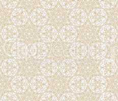 Abstract oriental floral seamless pattern. Arabic flower geometr