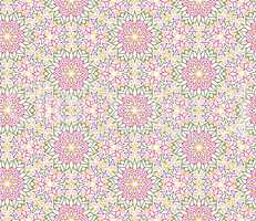 Abstract oriental floral seamless pattern. Arabic flower geometr