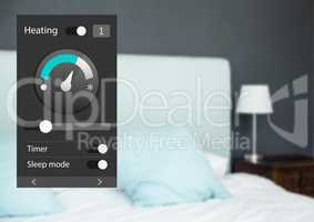 Home automation system heating App Interface