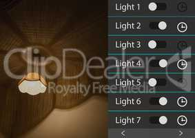 Home automation system lighting App Interface