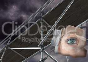 Eye structure with 3D Scaffolding