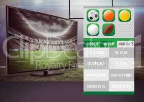 Betting App Interface television