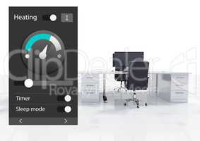 Office automation system heating temperature App Interface