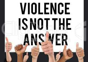 Thumbs up violence is not the answer