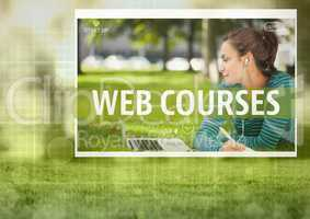 Web courses App Interface