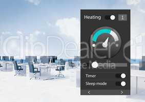 Office automation system heating App Interface