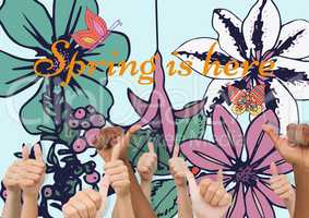 Thumbs up spring