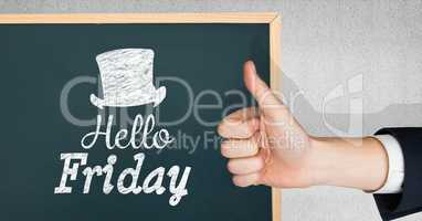 Thumbs up hello friday