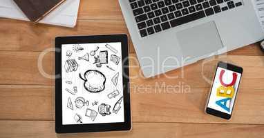 Education graphics on technologies