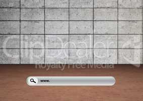 Search Bar with stone wall