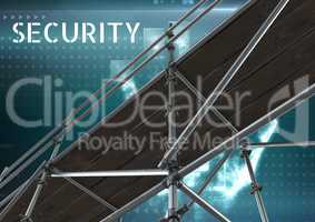 Security Text with 3D Scaffolding and interface