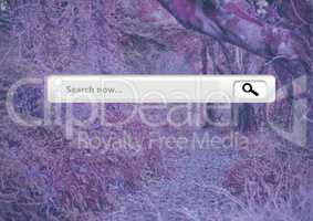 Search Bar with pink pink forest mysterious background