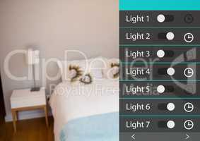 Home automation system lights App Interface