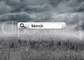 Search Bar with city background