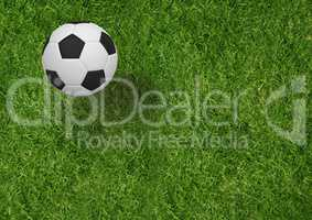 Composite image of soccer ball in 3d