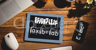 Scientific formulas on tablet PC and smart phone
