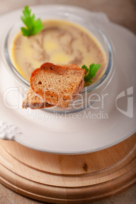 Home made chicken liver pate