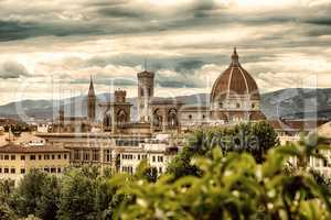 Florence and mountains