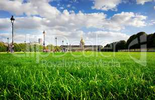 Lawn near Les Invalides
