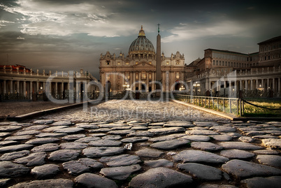 Vatican at twilight