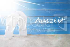 Sunny Summer Background, Auszeit Means Downtime
