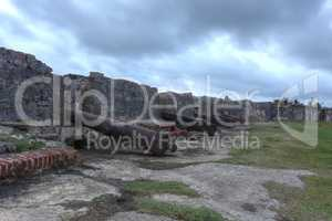 San Jeronimo Fort was built in several stages between 1596 and 1