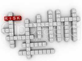 3d Risk word cloud concept