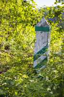 wooden border pillar