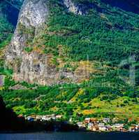 Village by Fjord, Norway