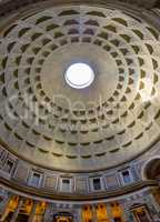 Interior of the roman Pantheon in Rome