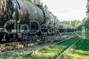 Tank wagons with oil