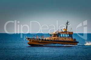 Yellow pilot ship