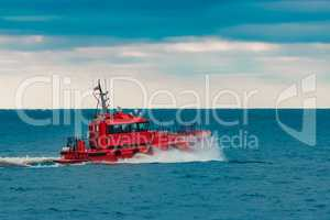 Red pilot ship