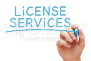 License Services Blue Marker