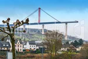 Brückenbaustelle, Hochmosel Brücke