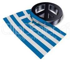 friedenssymbol und flagge von griechenland