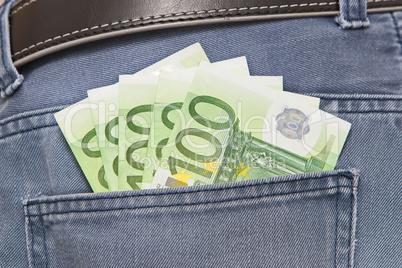 Euros in Jeans PocketEuros in Jeans Pocket
