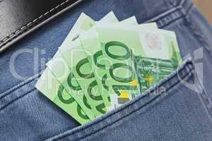Euros in Jeans Pocket
