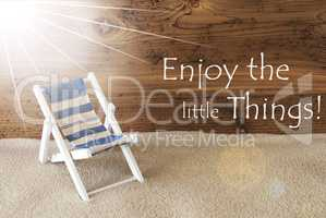 Summer Sunny Greeting Card And Quote Enjoy The Little Things