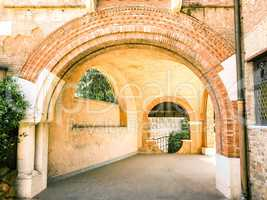 Entrance with arches
