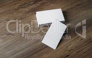 Mockup of blank business cards