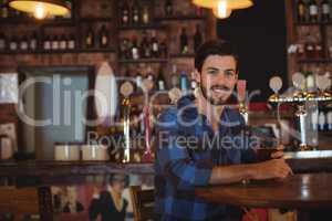 Man having beer in pub