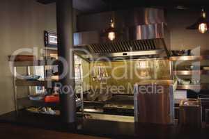 Commercial kitchen in restaurant