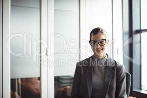 Portrait of smiling counselor