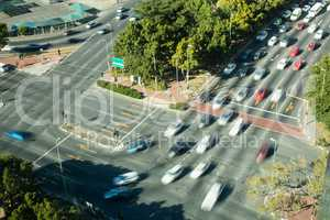 Cars moving on road in city